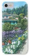 Monet's Garden Giverny IPhone Case by Richard Harpum