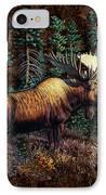 Moose Vignette IPhone Case by JQ Licensing