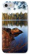 Morning On Chad Lake 2 IPhone Case by Larry Ricker