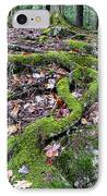 Moss Tree Roots Fall Color IPhone Case by Thomas R Fletcher