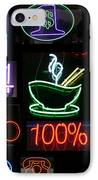 Neon Sign Series Of Various Symbols IPhone Case by Michael Ledray