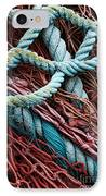 Nets And Knots Number Six IPhone Case by Elena Nosyreva