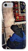 Nun Knotting Carpet IPhone Case by Sarah Loft