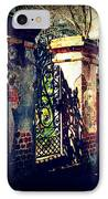 Old Iron Gate In Charleston Sc IPhone Case by Susanne Van Hulst