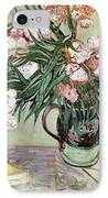 Oleanders And Books IPhone Case by Vincent van Gogh