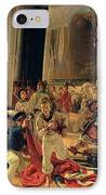 On The Deck During A Sea Battle IPhone Case by Francois Auguste Biard