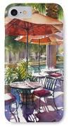 Orange Umbrellas IPhone Case by Sue Zimmermann