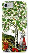 Ovids Pyramus And Thisbe Myth IPhone Case by Photo Researchers