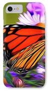 Painted Butterfly IPhone Case by David Kehrli