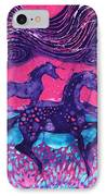 Painted Horses Below The Wind IPhone Case by Carol  Law Conklin