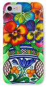 Pansy Parade IPhone Case by Lisa  Lorenz