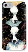 Papillon De Mardi Gras IPhone Case by Kathleen Sepulveda