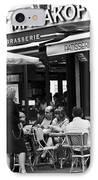 Paris Street Cafe - Le Malakoff IPhone Case by Georgia Fowler