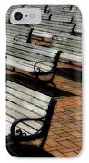 Park Benches IPhone Case by Perry Webster