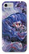 Passion In Blue IPhone Case by Nadine Rippelmeyer