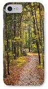 Path In Fall Forest IPhone Case by Elena Elisseeva