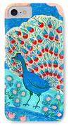 Peacock And Lily Pond IPhone Case by Sushila Burgess
