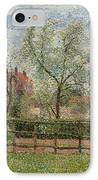 Pear Trees And Flowers At Eragny IPhone Case by Camille Pissarro