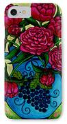 Peony Party IPhone Case by Lisa  Lorenz