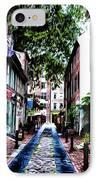 Philadelphia's Elfreth's Alley IPhone Case by Bill Cannon