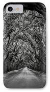 Plantation Oak Alley IPhone Case by Perry Webster