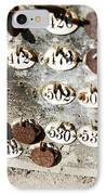 Plates With Numbers IPhone Case by Carlos Caetano