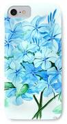 Plumbago IPhone Case by Karin  Dawn Kelshall- Best