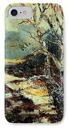 Poplars 45 IPhone Case by Pol Ledent
