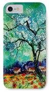 Poppies And Appletrees In Blossom IPhone Case by Pol Ledent