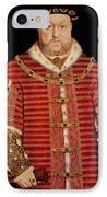 Portrait Of Henry Viii IPhone Case by Hans Holbein the Younger
