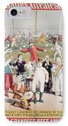 Poster Advertising The Barnum And Bailey Greatest Show On Earth IPhone Case by American School