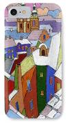 Prague Old Roofs Winter IPhone Case by Yuriy  Shevchuk