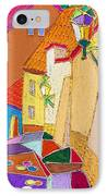 Prague Old Street Ceminska Novy Svet IPhone Case by Yuriy  Shevchuk
