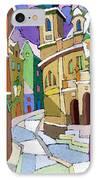 Prague Old Street Karlova Winter IPhone Case by Yuriy  Shevchuk