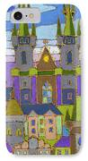Prague Panorama IPhone Case by Yuriy  Shevchuk