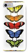 Rainbow Butterflies IPhone Case by Lucy Arnold