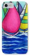 Rainbow Regatta IPhone Case by Lisa  Lorenz
