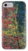 Red And Yellow Leaves Abstract Horizontal Number 1 IPhone Case by Heather Kirk