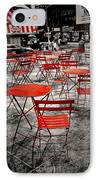 Red In My World - New York City IPhone Case by Angie Tirado