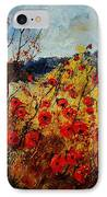 Red Poppies In Provence  IPhone Case by Pol Ledent