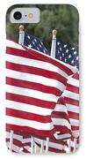 Red White And Blue IPhone Case by Jerry McElroy