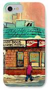Restaurant Greenspot Deli Hotdogs IPhone Case by Carole Spandau