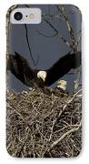 Returning Home To The Nest IPhone Case by Mike  Dawson