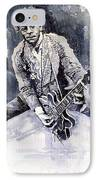 Rock And Roll Music Chuk Berry IPhone Case by Yuriy  Shevchuk