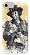 Rock Jimi Hendrix 01 IPhone Case by Yuriy  Shevchuk