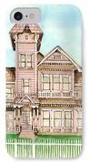 Rose Victorian Inn - Arroyo Grande Ca 1886 IPhone Case by Arline Wagner