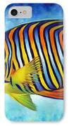 Royal Queen Angelfish IPhone Case by Nancy Tilles