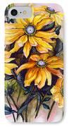 Rudbeckia  Prairie Sun IPhone Case by Karin  Dawn Kelshall- Best