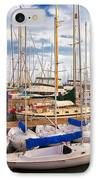 Sailoats Docked In Marina IPhone Case by David Buffington