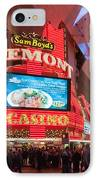 Sam Boyds Fremont Casino IPhone Case by Andy Smy